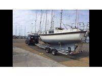Boat trailer HIRE yacht cabin cruiser