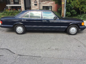 mercedes 300 SEL 1990 193000 km comme neuf pour collectioneur