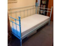 Ikea *RARE* pale blue day bed with mattress hardly used and in good condition