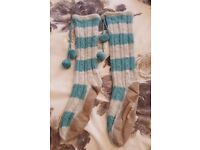 Ladies White Stuff Long, Cosy Slipper Socks size M – RRP £25.00, never worn