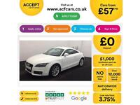 White AUDI TT COUPE 1.8 2.0 TDI Diesel ULTRA S LINE FROM £57 PER WEEK!