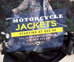 MOTORCYCLE JACKET BLOWOUT - STARTING AT $99.99