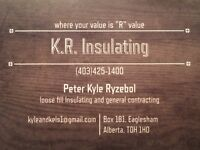 K.R. Insulating - loose fill blown in insulation
