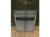 Towel rail chrome radiator