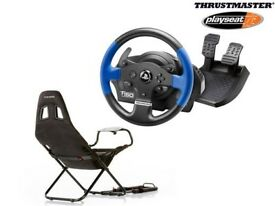 Thrustmaster T150 & Playseat Challenge, Arcade Racing Wheel & Gaming Chair