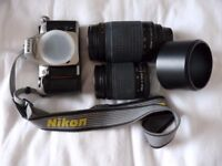 Two Nikon AF NIKKOR Zoom Lenses + Nikon F65 Camera Body (70-300mm & 28-80mm)