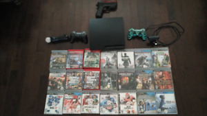 320 GB PS3 + 23 games + extras. Excellent condition