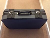 Grey Canvas and Black Leather Holdall/Suitcase