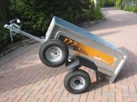 Ede 122 trailer new and unused,new spare wheel new flat cover.