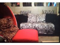 Klipan ikea sofa x2 and a foot stool £90 for all