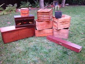 Caisses de Bois, Coffres Antique et Autres aux Choix