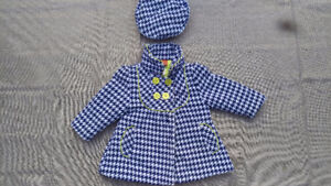 GIRLS 18M - GORGEOUS COAT & HAT FOR YOUR LITTLE TREND SETTER!