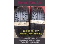 205-55-16 / 205-55 R16 Michelin Pilot primacy Part Worn Tyres 5mm+ Tread,