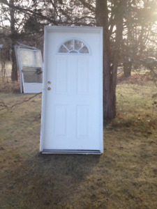used 34 1/2 moon door and frame-good shape-ready to install