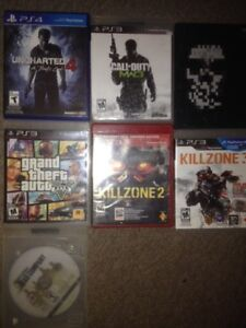 Various PS3 games and one PS4 game. Prices start at 2 bucks.