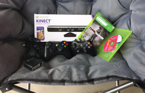 X BOX 360 KINECT 2 WIRELESS PADDLES GAMES SYSTEM ADAPTOR