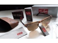 DELIVERY AVAILABLE TODAY! RAYBANS LADIES TURTLE SHELL CLUBMASTER SUNGLASSES tv