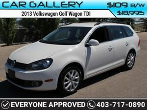 2013 Volkswagen Golf Wagon TDI $109B/W QUICK  EASY FINANCING-INS