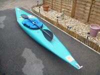 Kayak/Canoe... Suitable for Sea, River or Lake; 12 ft long • Complete with splash/spray deck