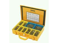 TurboGold Woodscrews General Trade Case Double-Self-Countersunk 1400Pcs