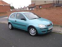 2004 Vauxhall Corsa 1.2 Life, 3Dr, Mot June 18, 62k Miles. £395..