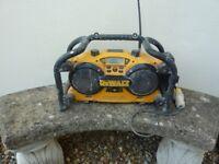 DEWALT DC011 Site Radio (110v) - 2.6ah 18v Battery Included