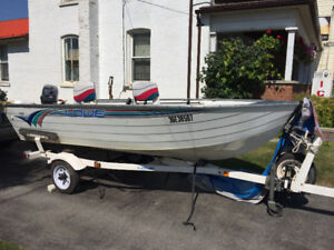 1996 14' LOWE Boat with matching trailer