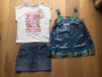 Girls tops and skirt