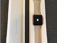 Rose Gold 42mm Apple Watch (Sport, 1st Generation) With Two Straps ~ Immaculate Condition