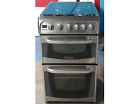 C119 Stainless Steel 50cm Cannon Double Oven Gas Cooker, Comes With Warranty & Can Be Delivered