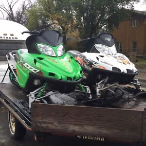 """M1000 and M800 sno pro both 153""""....trade for sea doo"""