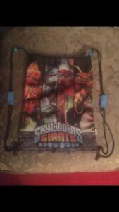 Skylanders bag and dog tags