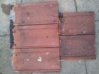 Used clay roof tiles in good condition. 80p (each)