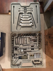 Large Multi piece socket set by Mastercraft
