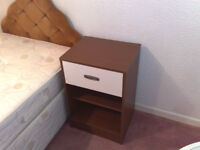 BEDSIDE TABLE WITH DRAWER AND TWO SHELVES