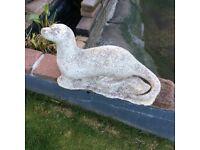 Stone Otter ornament for garden