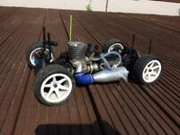 Thunder Tiger Tomahawk rare 4wd nitro rc car