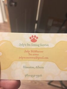 Jody's pet sitting service!