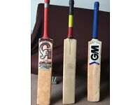 3 Used Cricket Bats for sale in very good condition.