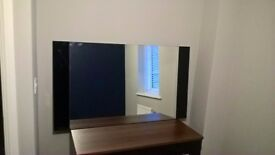 Large High Gloss Black Designer modern contemporary wall mirror