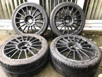 17 INCH ALLOY WHEELS WITH TYRES FORD VAUXHALL HONDA MINI CITROEN MULTIFITMENT