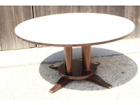 Large Round restaurant Dining Table with Padded Top