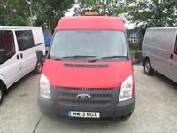 2013 ford transit short m/roof full history uk van fitted wit tool boxes in the rear work shop van