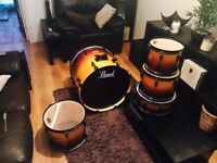 "Pearl Sunburst ELX Drum Kit -10"", 12"", 14"" toms, 22"" bass drum -Beautiful kit in Excellent Condition"