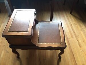 Beautiful leather top antique and tables