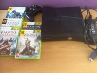 Xbox 360 console + Assassins Creed games