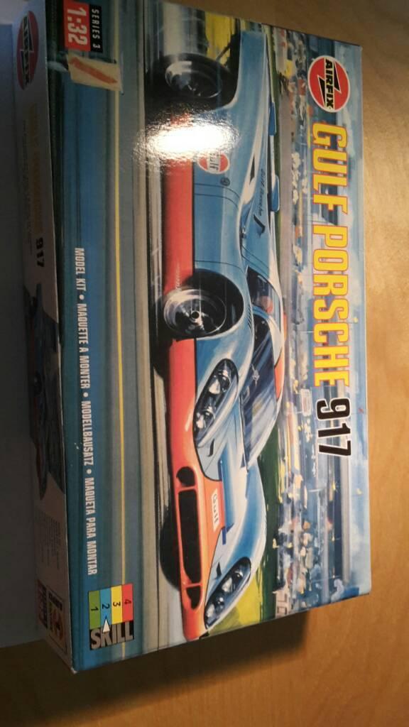 Unopened Rare Airfix Gulf Porsche 917 1998 Model Kit