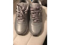 silver airmax trainers