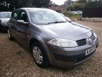 ** NEWTON CARS ** 05 RENAULT MEGANE 1.5 DCI EXPRESSION, 5 DR, VGC, S/H, £30 TAX, MOT OCT 2017, CALL