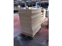 Large quantity of lacquered, laminated and plain mdf sheets free